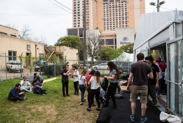 Attendees hang out during the second day of the SXSW music festival in downtown Austin, Texas on Wednesday, March 16, 2016. Chase Stevens/Las Vegas Review-Journal Follow @csstevensphoto