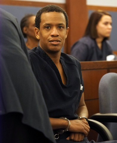 Omar Talley appears in court for a bail hearing at the Regional Justice Center in Las Vegas, Friday, March 4, 2016. Jerry Henkel/Las Vegas Review-Journal.