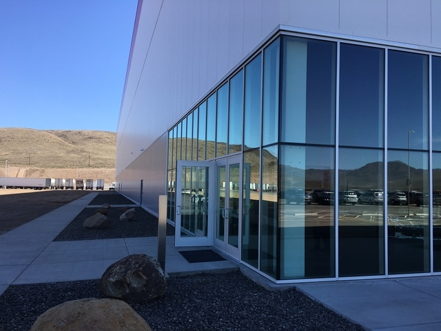 Tesla's Gigafactory east of Reno is already huge but only 14 percent of the final facility is built. Tesla gave a tour on Friday, March 18, 2016. (Sean Whaley/Las Vegas Review-Journal Capital Bureau)