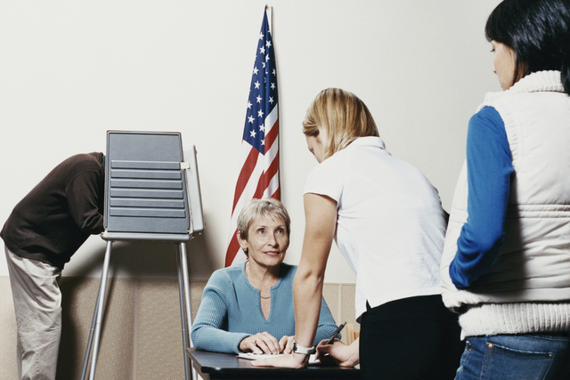 Waiting to vote at a polling station. (Thinkstock)