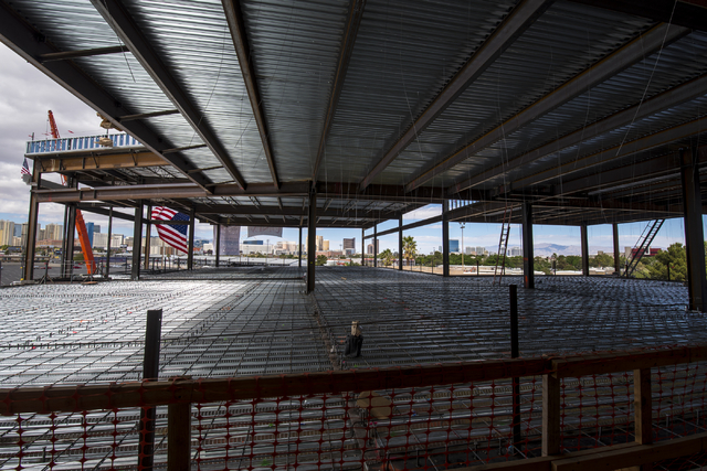 The observation deck of the new addition to the Thomas & Mack center is shown during the topping-off ceremony at UNLV in Las Vegas on Tuesday, March 22, 2016. Joshua Dahl/Las Vegas Review-Journal