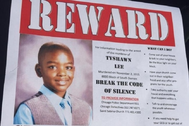 Chicago churches are offering an $11,000 reward for information leading to the arrest of the murderer of 9-year-old Tyshawn Lee. (Courtesy/The Faith Community of Saint Sabina/CNN)