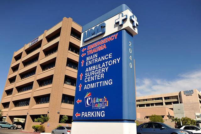 The University Medical Center. (David Becker/Las Vegas Review-Journal)