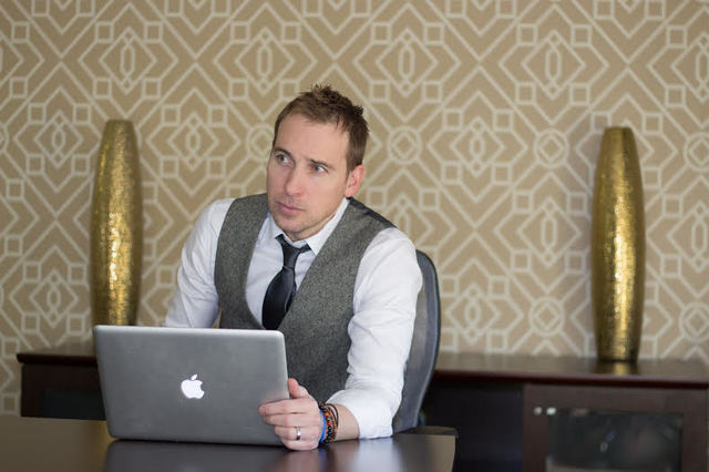 Alex Simon monitors sites on his computer Jan. 12 as part of his business, Digital 86. The Las Vegas-based company helps individuals and business entities who have received bad reviews or online c ...