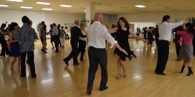 USA Dance members and supporters gather at the group's January dance. The local branch of a national nonprofit plans to host all-ages ballroom dances featuring a variety of music styles March 19,  ...