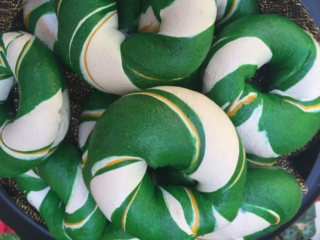 Baker Johann Willar's St. Patrick's Day bagel. (Courtesy)