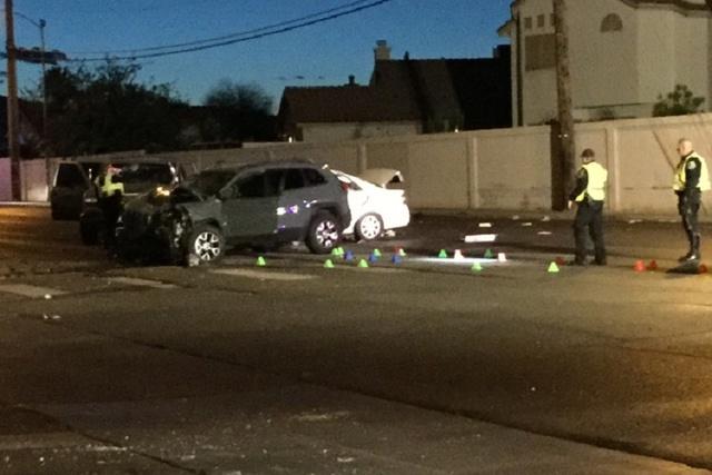 Man killed in multivehicle crash Wednesday night in North Las Vegas