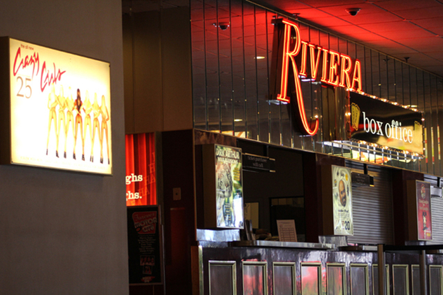 "The box office at the Riviera, where audiences have been purchasing tickets to the popular ""Crazy Girls"" show, Sunday, April 26, 2015. (Kimberly De La Cruz/Las Vegas Review-Journal)"