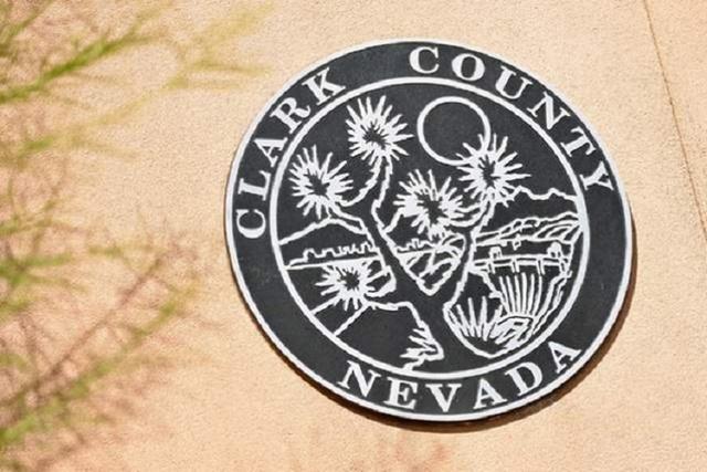 Clark County sign (David Becker/Las Vegas Review-Journal)