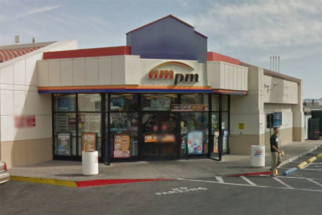 The AMPM store at 3873 Las Vegas Boulevard South is shown in this screengrab. (Courtesy Google)