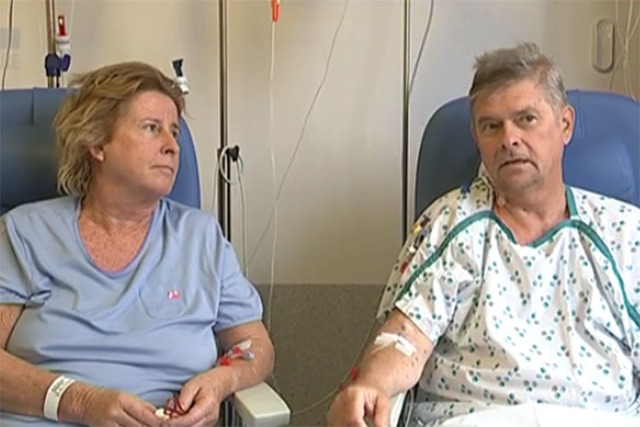 Catherine and Philippe Breyer, who own a home in Henderson, talk about how they survived the Brussels airport attack. (VRT deredactie.be/Facebook)