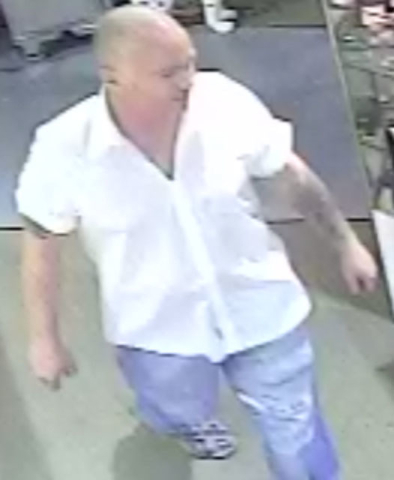 Police are looking for a man suspected of stealing jewelry from a shop in downtown Las Vegas. (Courtesy)