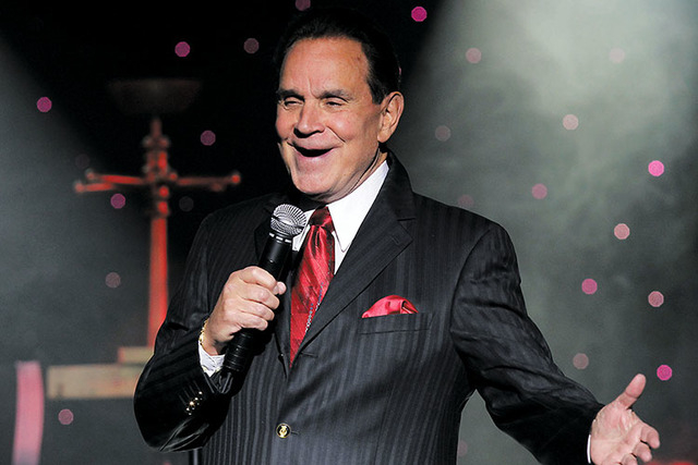 Rich Little, seen performing at the Riviera, received a compliment from Nancy Reagan in 1981 for his portrayal of President Ronald Reagan. (Las Vegas Review-Journal)