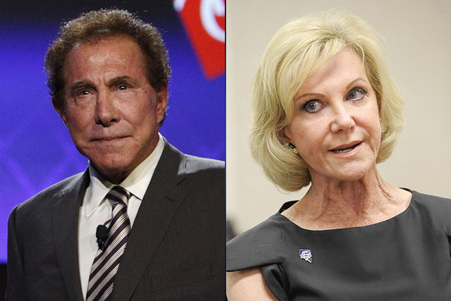 Steve Wynn, left, and his former wife Elaine Wynn. (Review-Journal File)