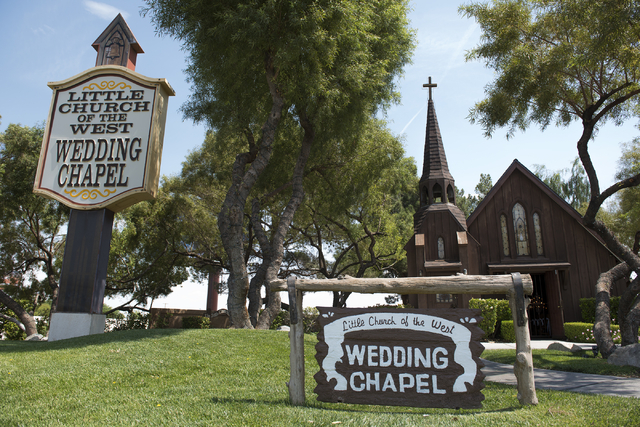 The Little Church of the West Wedding Chapel is shown at 4617 Las Vegas Blvd. South in Las Vegas on Friday, April 24, 2015. (Martin S. Fuentes/Las Vegas Review-Journal)