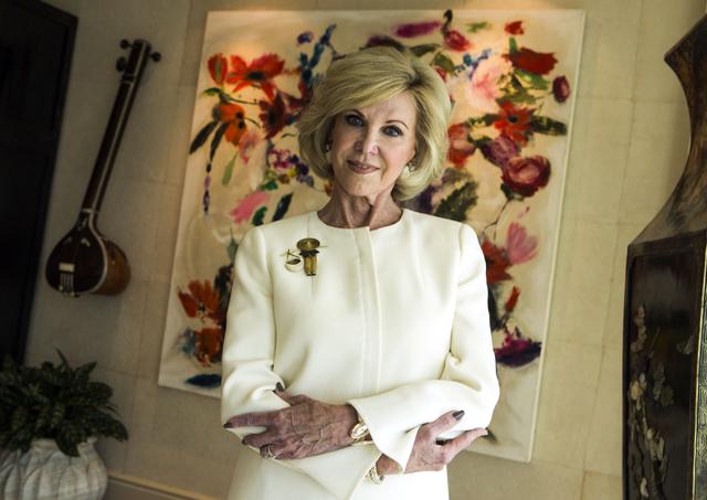 Elaine Wynn, philanthropist and cofounder of Wynn Resorts, poses for a photo on Thursday, April 23, 2015. (Jeff Scheid/Las Vegas Review-Journal) Follow Jeff Scheid on Twitter @jlscheid