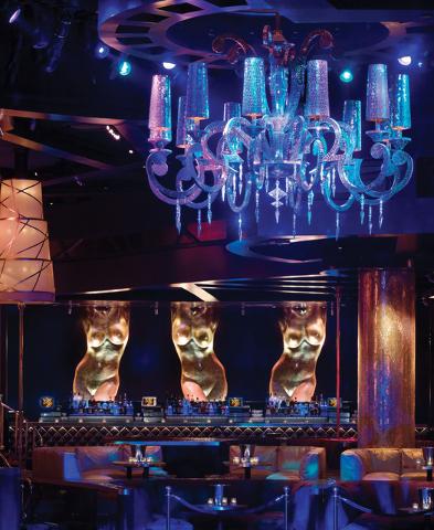 The bar at XS Nightclub inside the Wynn Las Vegas.  (Courtesy/XS Nightclub)
