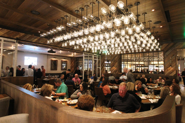 Patrons dine at Yardbird in the Venetian Saturday, April 11, 2015. (Sam Morris/Las Vegas Review-Journal) Follow Sam Morris on Twitter @sammorrisRJ