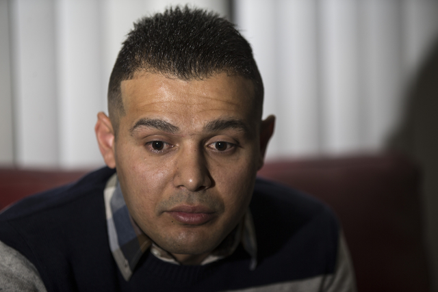Mohammad Alfalahi speaks about getting his U.S. citizenship application denied during an interview at his home on Tuesday, Jan. 26, 2016, in Las Vegas. (Erik Verduzco/Las Vegas Review-Journal) Fol ...