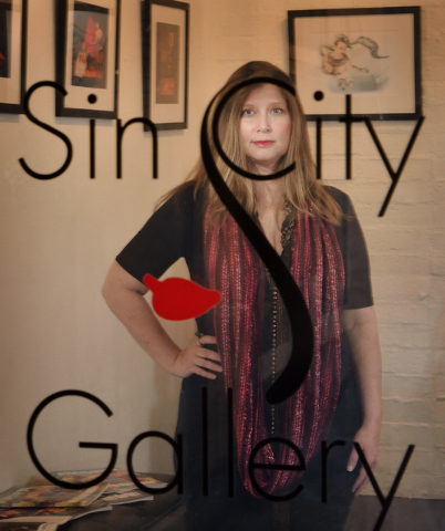 Laura Henkel, owner and director of Sin City Gallery, is shown at the gallery in the Arts Factory at 107 E. Charleston Blvd. in Las Vegas on Thursday, March 31, 2016. Bill Hughes/Las Vegas Review- ...