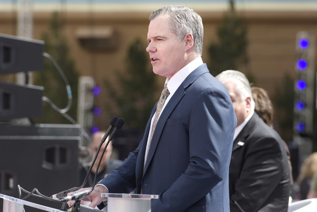 MGM Resorts International Chairman and CEO Jim Murren speaks during the grand opening of  T-Mobile Arena Wednesday, April 6, 2016. Sam Morris/Las Vegas News Bureau