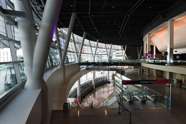 The main entry is seen from the third floor during the grand opening of MGM Resorts  International's T-Mobile Arena Wednesday, April 6, 2016. Sam Morris/Las Vegas News Bureau