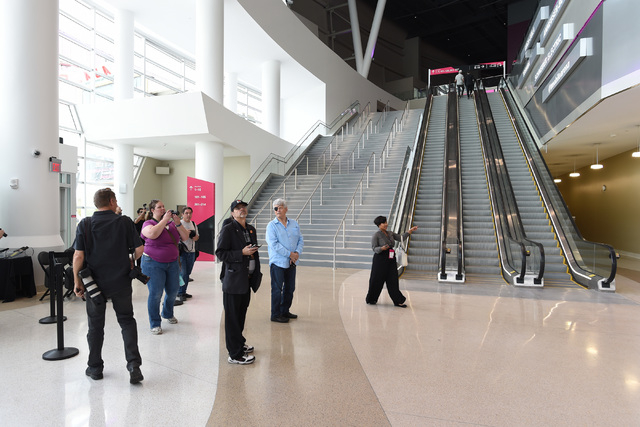 Invited guests get a tour during the grand opening of MGM Resorts International's T-Mobile Arena Wednesday, April 6, 2016. Sam Morris/Las Vegas News Bureau