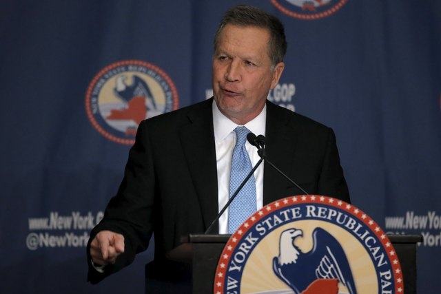 John Kasich speaks at the 2016 New York State Republican Gala in New York City, April 14, 2016. (Brendan McDermid/Reuters)
