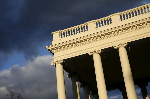 The North Portico of the White House is seen during a sunset in Washington, March 28, 2016. (Yuri Gripas/Reuters)