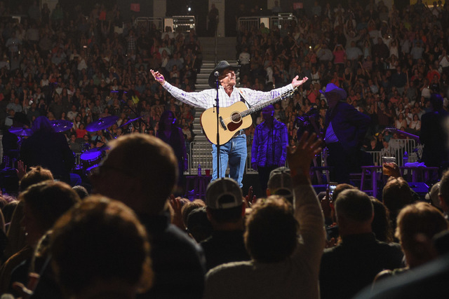 George Strait picked right up where he left off when he launched the first of his semi-retirement shows at T-Mobile arena Friday. (Courtesy Powers Imagery)