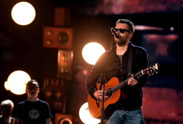 Musician Eric Church rehearses onstage during the 51st Academy of Country Music Awards at MGM Grand Garden Arena. (Kevin Winter/Getty Images)