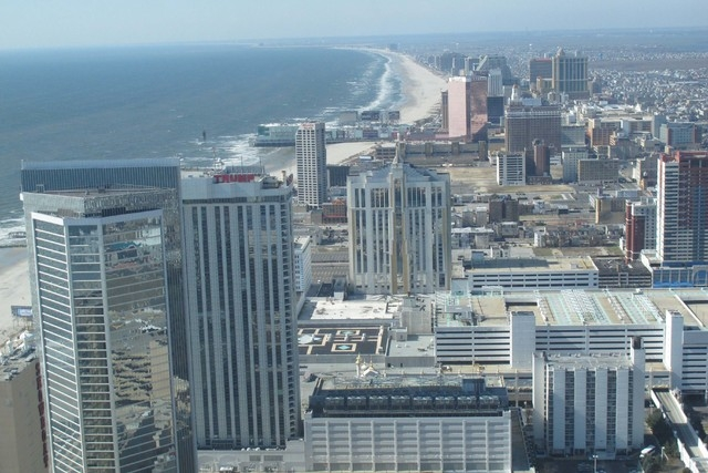 Casinos are seen along the Atlantic City, N.J. beachfront in 2012. (Wayne Parry/The Associated Press)