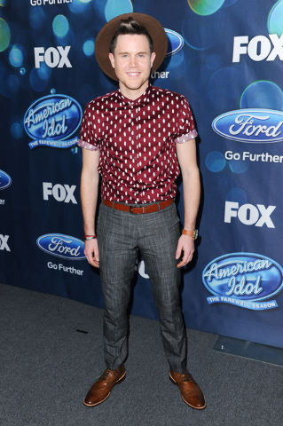 "Trent Harmon attends the red carpet arrivals and debut of the ""American Idol XV"" finalists in West Hollywood, Calif., Feb. 25, 2016. Three contestants are left to vie for the last American Idol"" c ..."