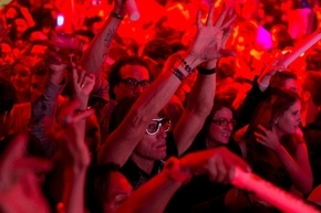 Revelers dance to the music of DJ Cedric Gervais at the Surrender nightclub in Las Vegas earlier this year. (Associated Press file)