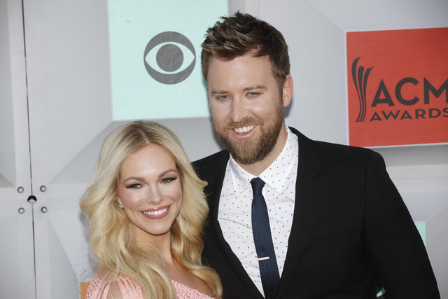 Charles Kelley and his wife Cassie McConnell walk the red carpet at the 51st Academy of Country Music Awards Sunday, April 3, 2016, at the MGM Grand in Las Vegas.  (Rachel Aston/Las Vegas Review-J ...