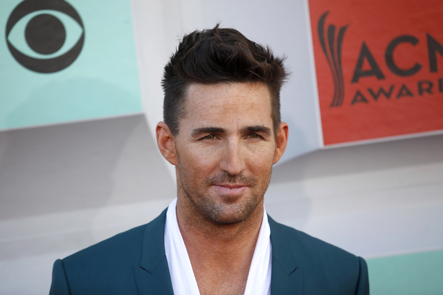 Jake Owen walks the red carpet at the 51st Academy of Country Music Awards Sunday, April 3, 2016, at the MGM Grand in Las Vegas.  (Rachel Aston/Las Vegas Review-Journal) Follow @rookie__rae
