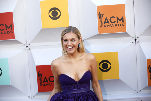 Kelsea Ballerini walks the red carpet at the 51st Academy of Country Music Awards Sunday, April 3, 2016, at the MGM Grand in Las Vegas.  (Rachel Aston/Las Vegas Review-Journal) Follow @rookie__rae