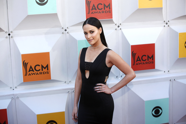 Kacey Musgraves walks the red carpet at the 51st Academy of Country Music Awards Sunday, April 3, 2016, at the MGM Grand in Las Vegas.  (Rachel Aston/Las Vegas Review-Journal) Follow @rookie__rae