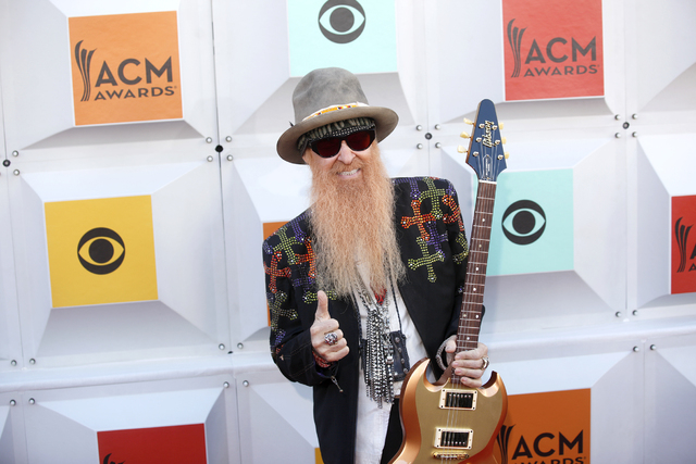 Billy Gibbons walks the red carpet at the 51st Academy of Country Music Awards Sunday, April 3, 2016, at the MGM Grand in Las Vegas.  (Rachel Aston/Las Vegas Review-Journal) Follow @rookie__rae