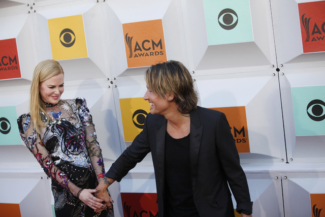 Nicole Kidman and husband Keith Urban walk the red carpet at the 51st Academy of Country Music Awards Sunday, April 3, 2016, at the MGM Grand in Las Vegas. (Rachel Aston/Las Vegas Review-Journal)  ...