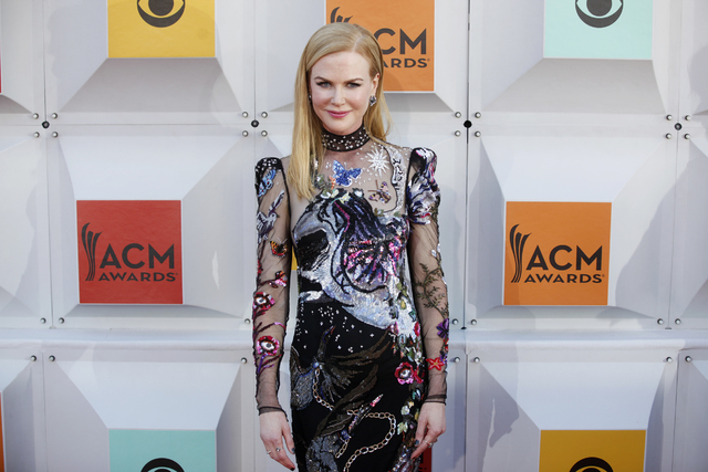 Nicole Kidman walks the red carpet at the 51st Academy of Country Music Awards Sunday, April 3, 2016, at the MGM Grand in Las Vegas.  (Rachel Aston/Las Vegas Review-Journal) Follow @rookie__rae