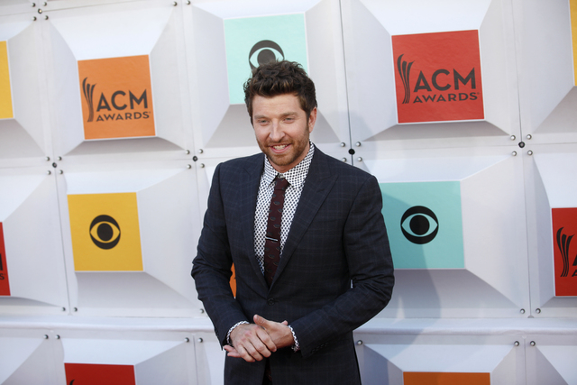 Brett Eldredge walks the red carpet at the 51st Academy of Country Music Awards Sunday, April 3, 2016, at the MGM Grand in Las Vegas.  (Rachel Aston/Las Vegas Review-Journal) Follow @rookie__rae