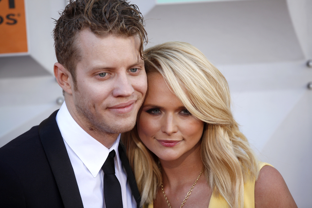 Anderson East and Miranda Lambert walk the red carpet at the 51st Academy of Country Music Awards Sunday, April 3, 2016, at the MGM Grand in Las Vegas.  (Rachel Aston/Las Vegas Review-Journal) Fol ...