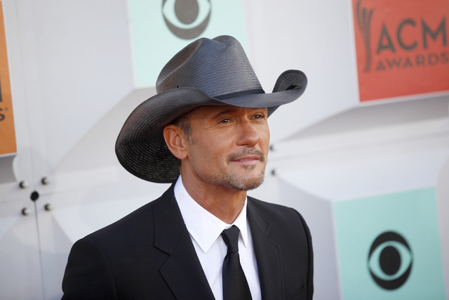 Tim McGraw walks the red carpet at the 51st Academy of Country Music Awards Sunday, April 3, 2016, at the MGM Grand in Las Vegas. (Rachel Aston/Las Vegas Review-Journal) Follow @rookie__rae