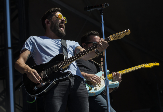 "Matthew Ramsey of Old Dominion performs during the last day of the American Country Music's ""Party for a Cause,"" event at the Las Vegas Festival Grounds on Sunday, April 3, 2016  ..."
