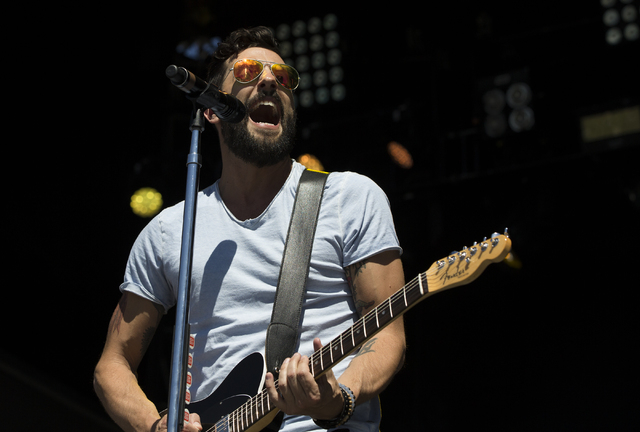"Matthew Ramsey of Old Dominion performs during the last day of the American Country Music's ""Party for a Cause,"" event at the Las Vegas Festival Grounds on Sunday, April 3, 2016 in Las Vegas. Benj ..."