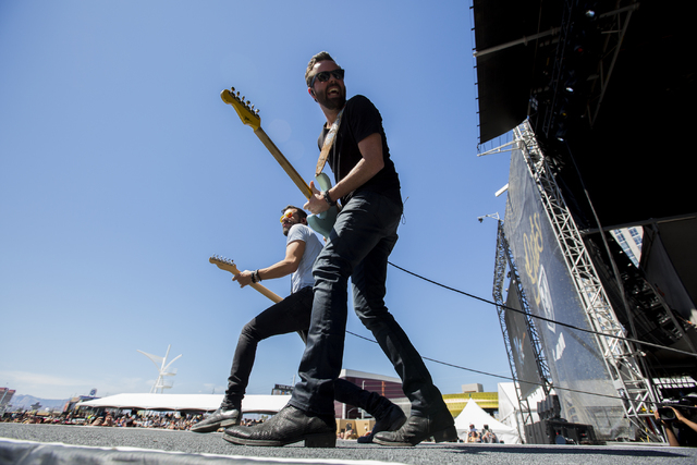 "Old Dominion performs during the last day of the American Country Music's ""Party for a Cause,"" event at the Las Vegas Festival Grounds on Sunday, April 3, 2016 in Las Vegas. Benj ..."
