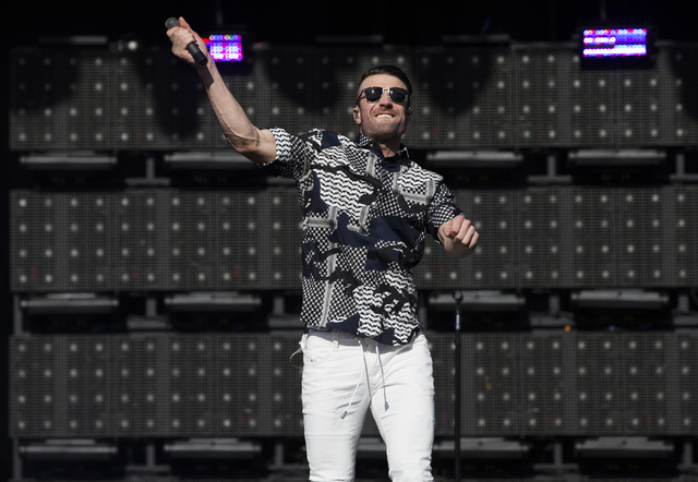 "Sam Hunt performs during the last day of the American Country Music's ""Party for a Cause,"" event at the Las Vegas Festival Grounds on Sunday, April 3, 2016 in Las Vegas. Benjamin ..."