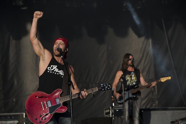 "Kip Moore performs during the last day of the American Country Music's ""Party for a Cause,"" event at the Las Vegas Festival Grounds on Sunday, April 3, 2016 in Las Vegas. Benjami ..."