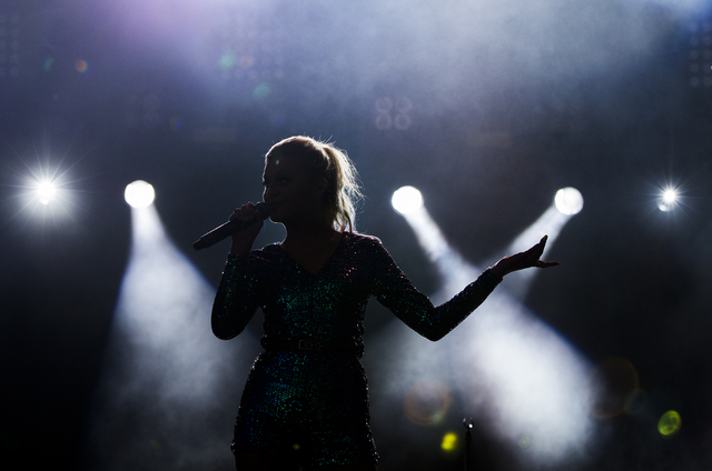 "Kelsea Ballerini performs ""Love Me Like You Mean It"" during the first day of the American Country Music's ""Party for a Cause,"" event at the Las Vegas Festival G ..."